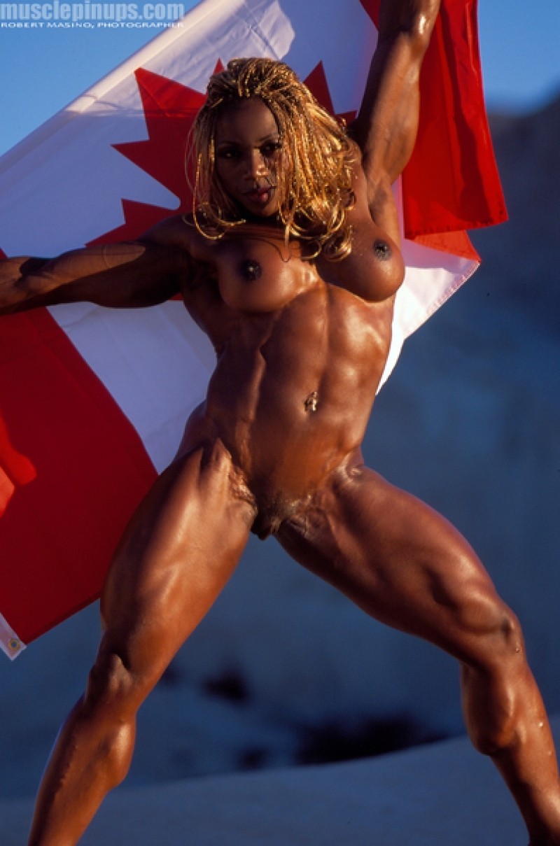 And hairy female athlete clit that